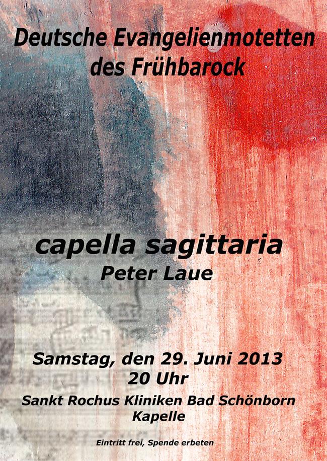 Chorkonzert am 29. Juni 2013, St. Rochus-Kapelle Bad Schönborn - Mingolsheim