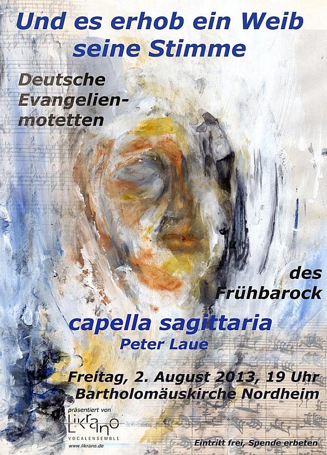 Plakat zum Konzert am 2. August 2013 in Nordheim